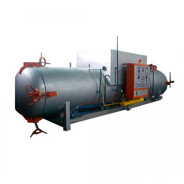 Maq. Autoclave de Funcionamiento a gas para sardinas